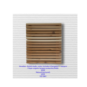 Cedar Wall Mount Backdrop - Venetian